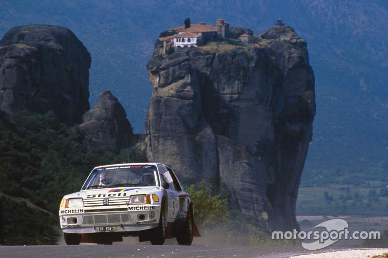 037 - WRC 1985. Acropole. Salonen/Harjanne. Peugeot 205 Turbo 16. Vainqueur